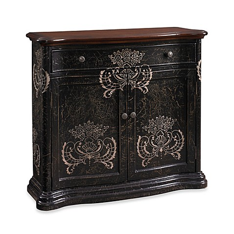 Hand-Painted Cabinet in Black