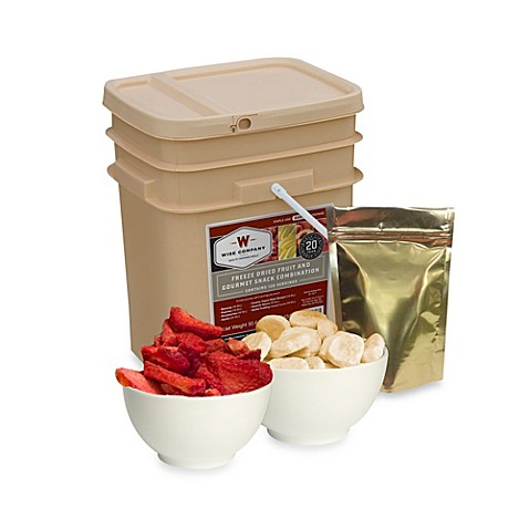 Buy wise foods company 120 serving freeze dried fruit and snack bucket from bed bath beyond - Dried fruit business ...
