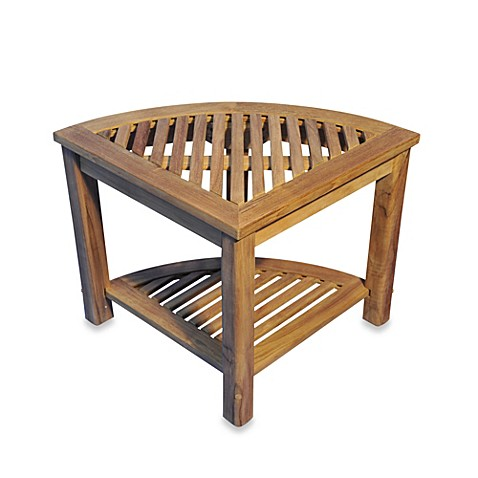 Buy The Teak Round Corner Shelf Or Shower Stool From Bed