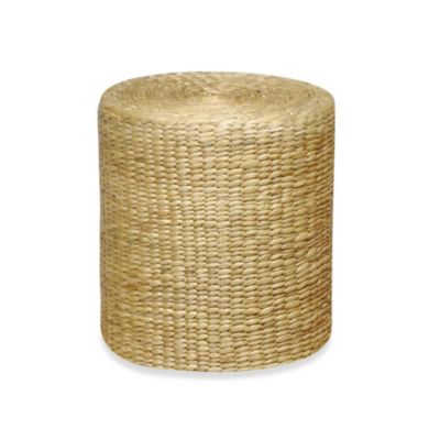 Round Stool/Table with Hyacinth Wrap