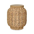 Emissary Small Lantern Stool with Hyacinth Wrap