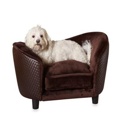 Enchanted Home Pet Ultra Plush Snuggle Basketweave Pet Bed in Brown