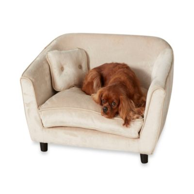 Enchanted Home Pet Ultra Plush Astro Sofa Bed in Oyster