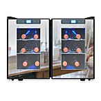 Vinotemp 12 Bottle Touch Screen Mirrored Wine Cooler in Black/Silver