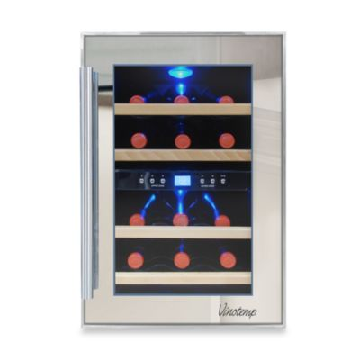 Vinotemp® 12-Bottle Dual Zone Mirrored Wine Cooler