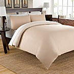 Cotton Chambray Reversible Duvet Cover Set in Taupe
