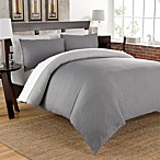 Cotton Chambray Reversible Duvet Cover Set in Charcoal