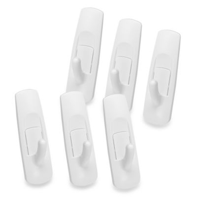 3M Command Strips 6-Pack Damage-Free Hanging Medium Utility Hooks
