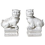 Foo Dogs Figurines in White (Set of 2)