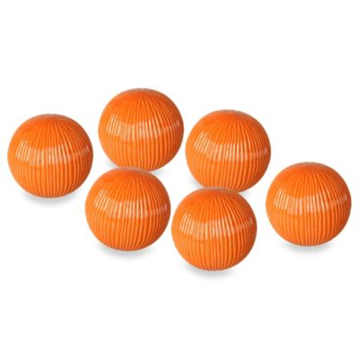 Emissary Decorative Ceramic Textured Balls (Set of 6)
