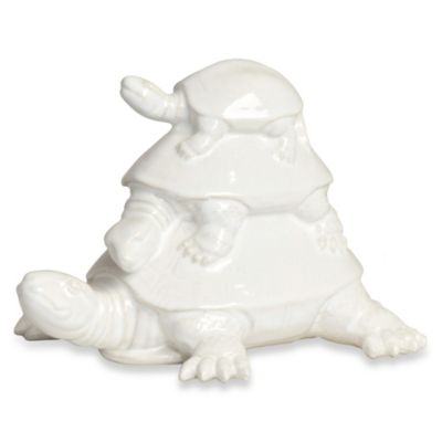 Three Turtles Ceramic Sculpture