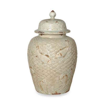 Emissary Ginger Jar with Fish