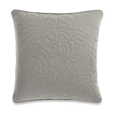 Barbara Barry Dream Petal Garden Square Throw Pillow in Silver Sage
