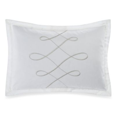 Barbara Barry Dream Lyrical Loop Boudoir Throw Pillow in Sterling