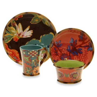 Tracy Porter® Poetic Wanderlust® Eden Ranch 16-Piece Dinnerware Set