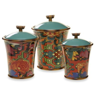 Tracy Porter® Poetic Wanderlust® Eden Ranch 3-Piece Canister Set