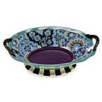Certified International Tracy Porter Oval Bowl with Handles for Poetic Wanderlust in Rose Boheme