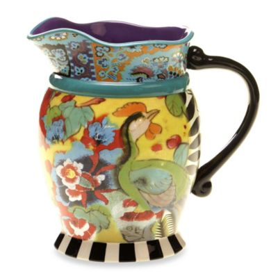 Certified International Tracy Porter Pitcher for Poetic Wanderlust in Rose Boheme