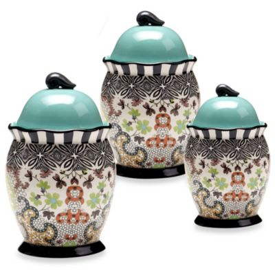 Tracy Porter® 3-Piece Canister Set for Poetic Wanderlust® in Rose Boheme