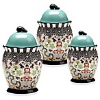 Certified International Tracy Porter 3-Piece Canister Set for Poetic Wanderlust in Rose Boheme