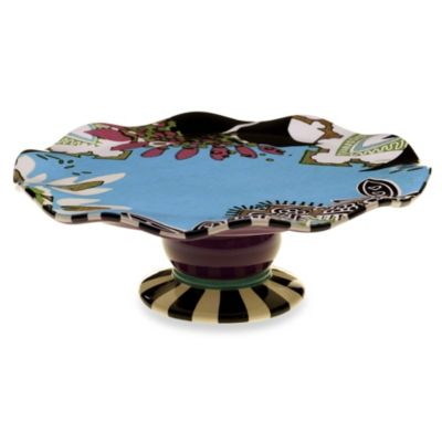 Certified International Tracy Porter Cake Stand for Poetic Wanderlust in Rose Boheme