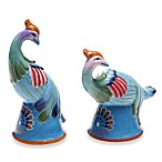 Certified International Tracy Porter 3D Phoenix Salt/Pepper Set for Poetic Wanderlust in Rose Boheme