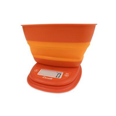 Escali® Pop-Up Digital Food Scale in Orange