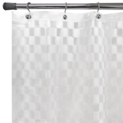 Checkers Embossed 70-Inch x 72-Inch Shower Curtain Liner