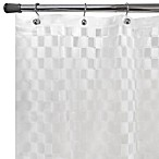Checkers Embossed Shower Curtain Liner