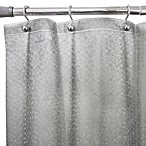 Flecks Embossed Shower Curtain Liner in Grey