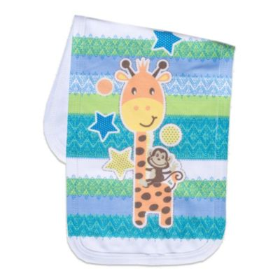 Clever Birds® Giraffe Retro Stripes Burp Cloth