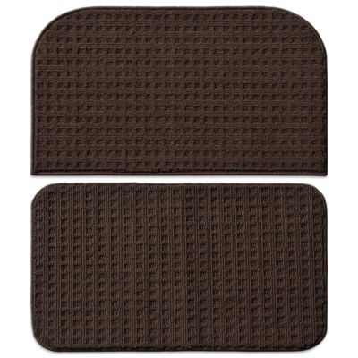 Garland Herald Square 2-Piece Kitchen Rug Set in Chocolate