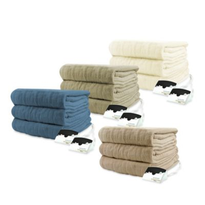 Biddeford Blankets® Micro Plush Heated Twin Blanket in Linen