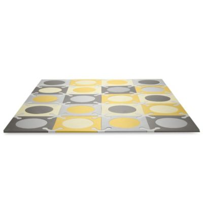 SKIP*HOP Playspot Interlocking Foam Tiles in Gold and Grey