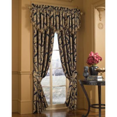 "J. Queen New York™ Majestic 84"" Window Curtain Panel Pair"