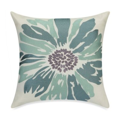 Anthology™ Whisper Embroidered Floral Toss Pillow in Spa