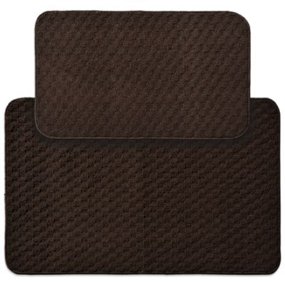 Garland Town Square 2-Piece Rectangle Kitchen Rug Set in Mocha