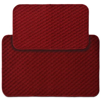 Garland Town Square 2-Piece Rectangle Kitchen Rug Set in Red
