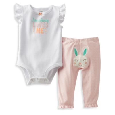 Carter's® Some Bunny Loves Me 2-Piece Pant Set