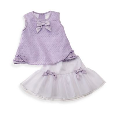 Wendy Bellissimo™ 2-Piece Skort Set in Lavender/White