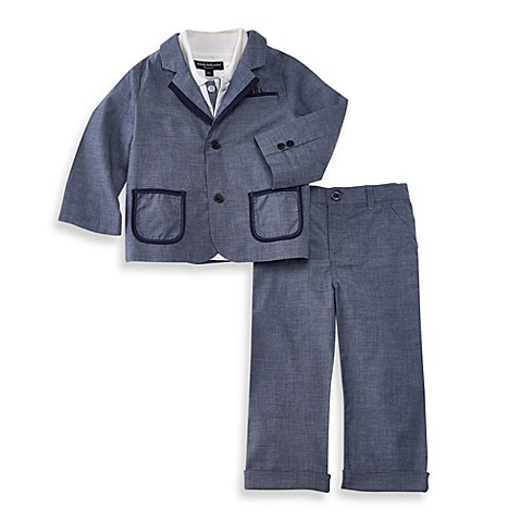 Wendy Bellissimo™ 3 Piece Chambray Blazer Pant Set Bed