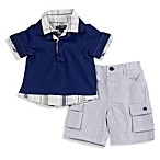 Wendy Bellissimo™ 2-Piece Plaid Shorts Set in Navy