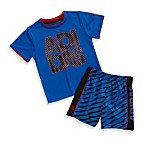 Adidas® ADI Stack Shorts Set in Strong Blue