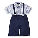Wendy Bellissimo™ 2-Piece Cotton Linen Short Set in Navy