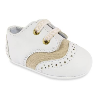 Wendy Bellissimo™ Warren Soft Sole Wingtip Oxfords in White/Tan