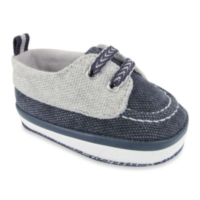 Wendy Bellissimo™ Size 2 Jacques Worn Canvas Soft Sole Deck Shoe in Navy/Gray