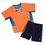 Adidas® Shockwave Short Set in Zest Orange/Navy