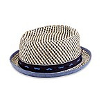 Porkpie Fedora Hat with Mustache Design