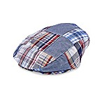 Cabby Cap with Plaid Patchwork