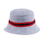 Reversible Seersucker Plaid Bucket Hat